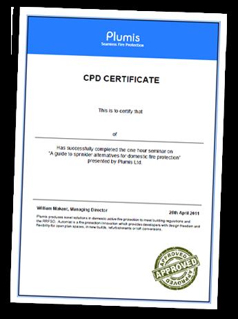 Plumis CPD Certificate